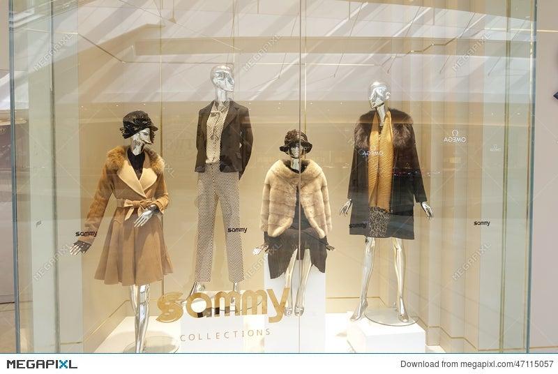 f857b893b7580 Fashion Boutique Clothing Shop Window Dress Store Stock Photo ...