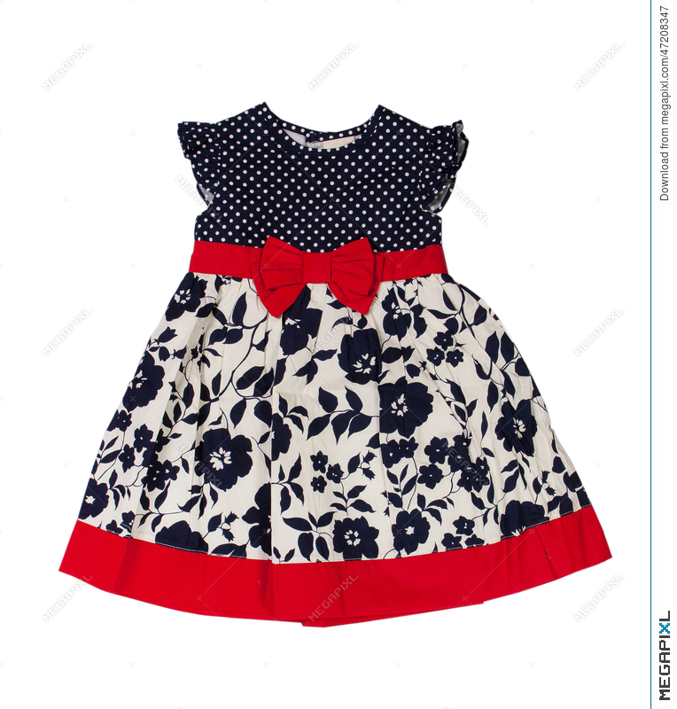 59ce7313ad61 Children s Wear. Baby Dress On A White Background Stock Photo ...