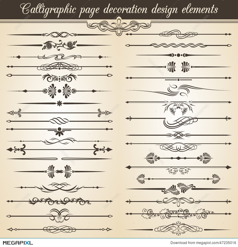 Calligraphic vintage page decoration design elements vector card calligraphic vintage page decoration design elements vector card invitation text decoration stopboris Image collections