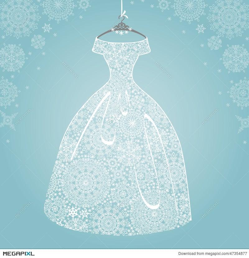 Bridal Dressding Snowflake Lace Stock Photo 47354877 Megapixl