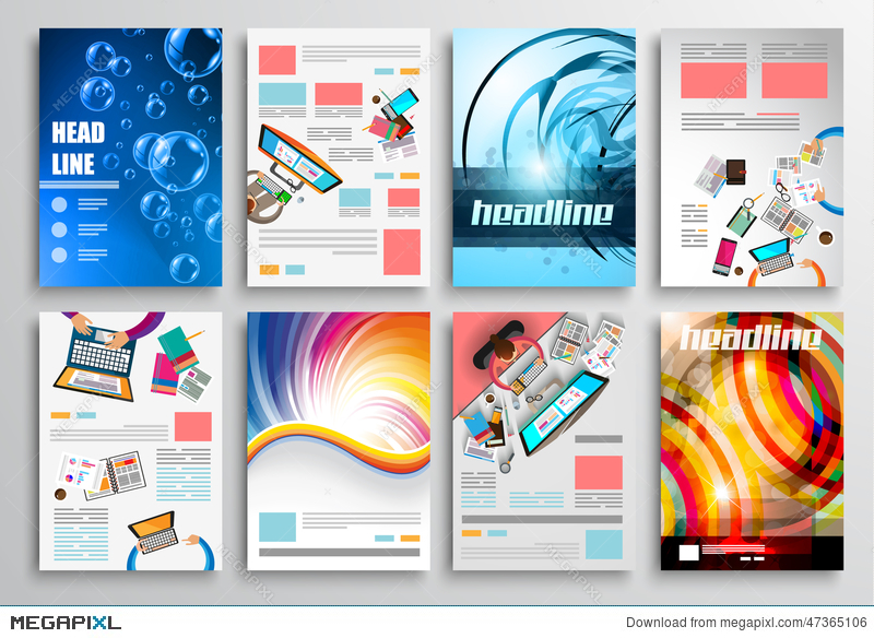 Set Of Flyer Design Web Templates Brochure Designs Technology - Technology brochure template
