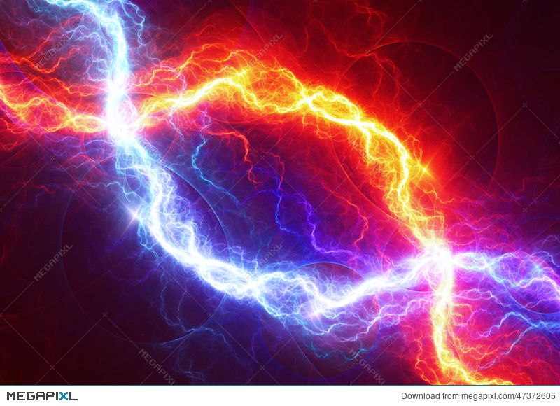 fire and ice abstract lightning background illustration 47372605