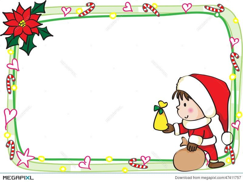 merry christmas card border frame