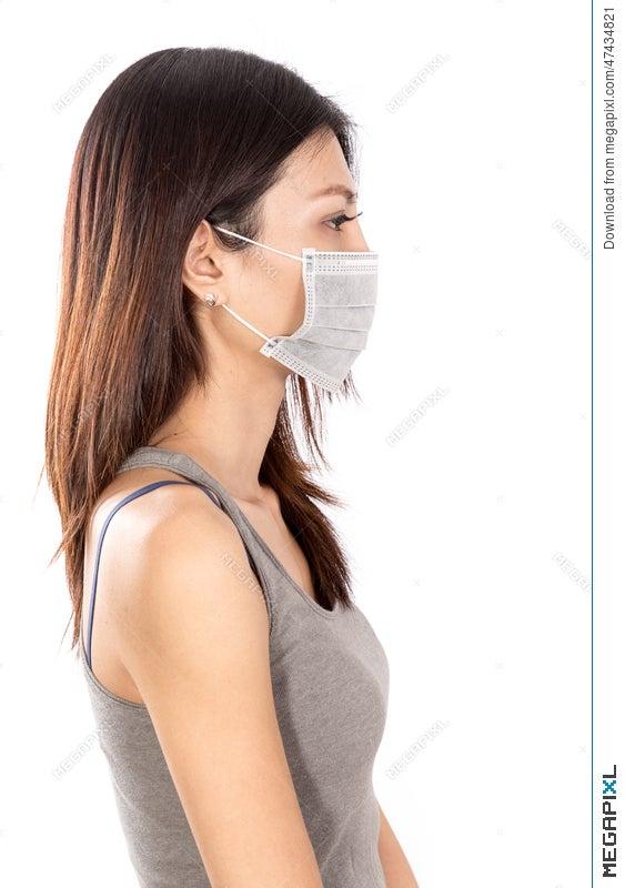 Wearing Photo Asian Mask Surgical Megapixl Stock - Woman 47434821