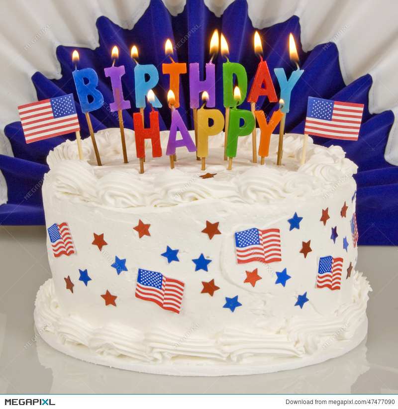 Incredible Patriotic 4Th Of July Birthday Cake Stock Photo 47477090 Megapixl Funny Birthday Cards Online Inifofree Goldxyz