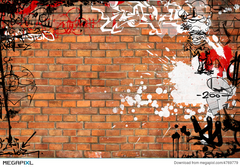 Graffiti Brick Wall Illustration 4769779