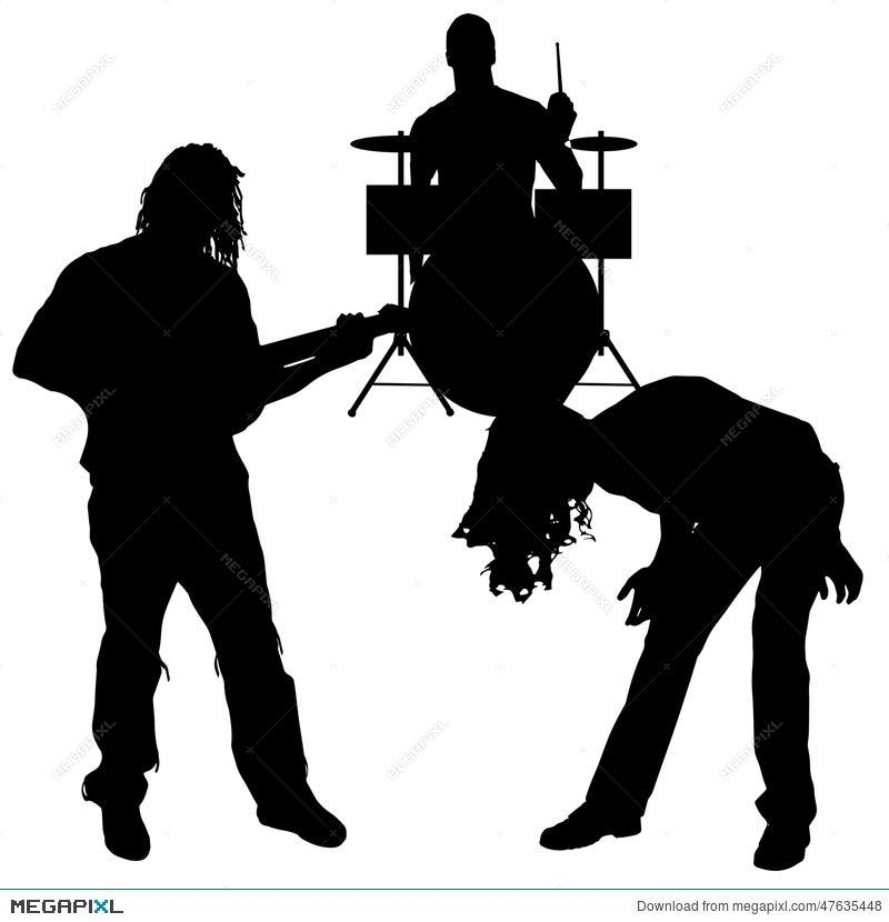 vector musicians silhouette illustration 47635448 megapixl