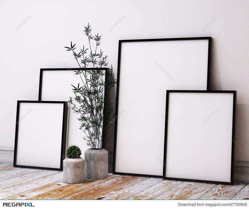 Mock Up Poster Frames In Hipster Loft Interior Illustration 47700806 ...