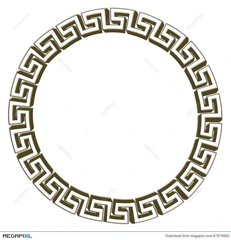 Single Greek Key Circle Gold Illustration 47970682 Megapixl