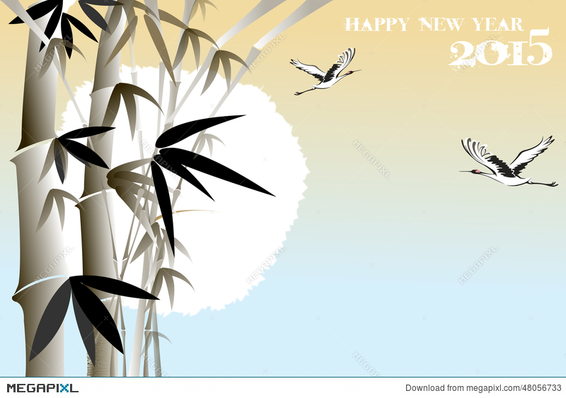 Korean new year greeting card with bamboo eps10 illustration korean new year greeting card with bamboo eps10 illustration m4hsunfo