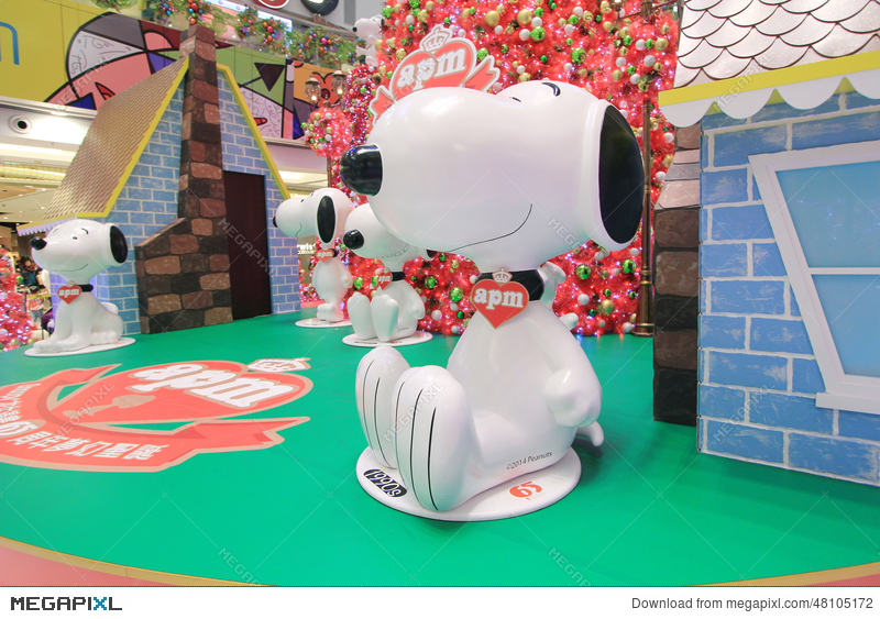 apm snoopy christmas decoration in hong kong