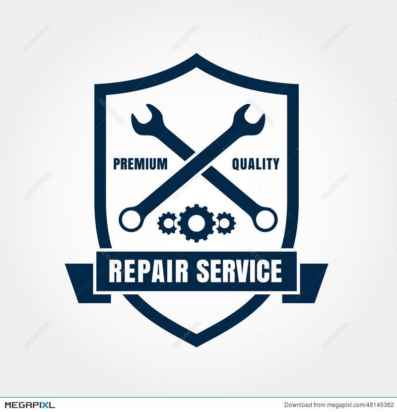 Vintage Style Car Repair Service Shield Label. Vector Logo Desig ...