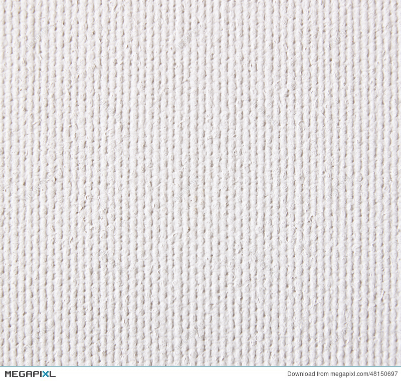 Background From White Coarse Canvas Texture High Res