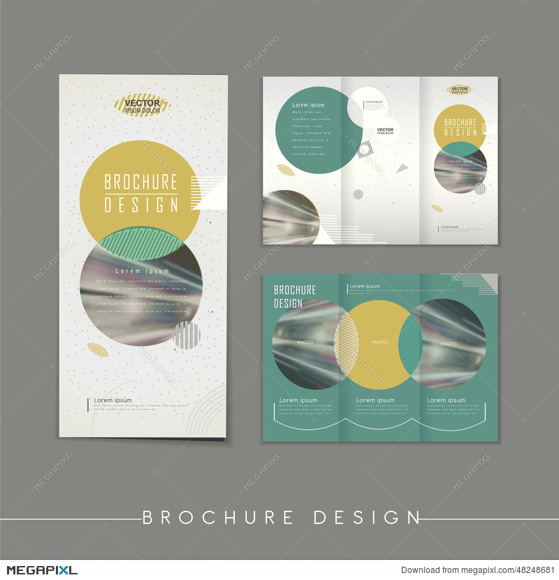 Modern Abstract Tri Fold Brochure Template Design Illustration