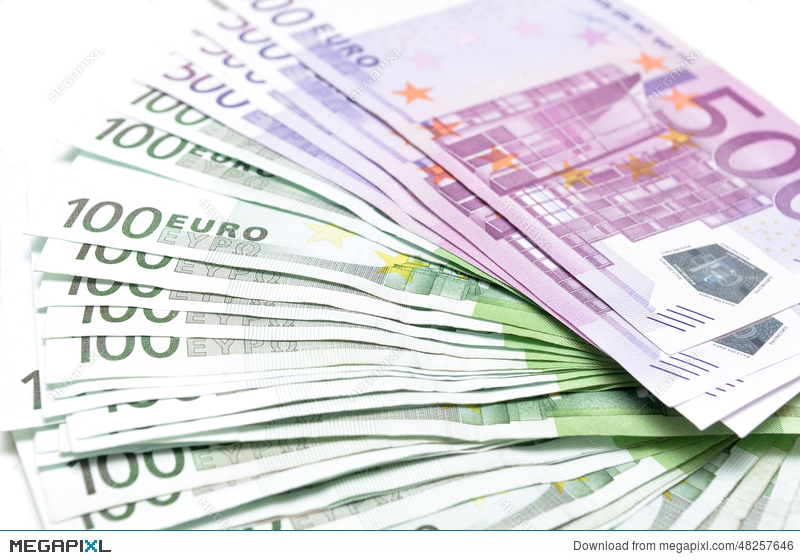 Stack Of Money Euro Bills Banknotes
