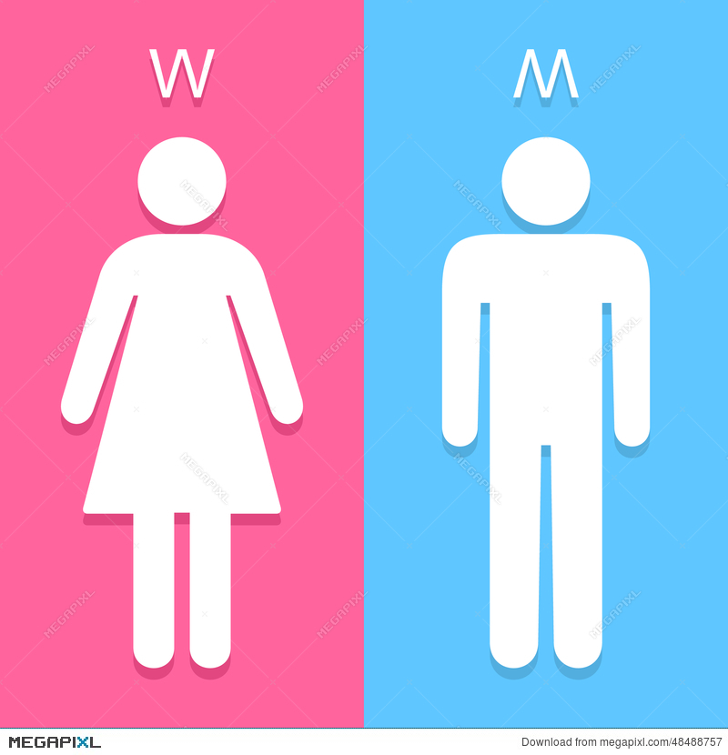 Men And Women Toilet Sign Great For Any Use Vector Eps10