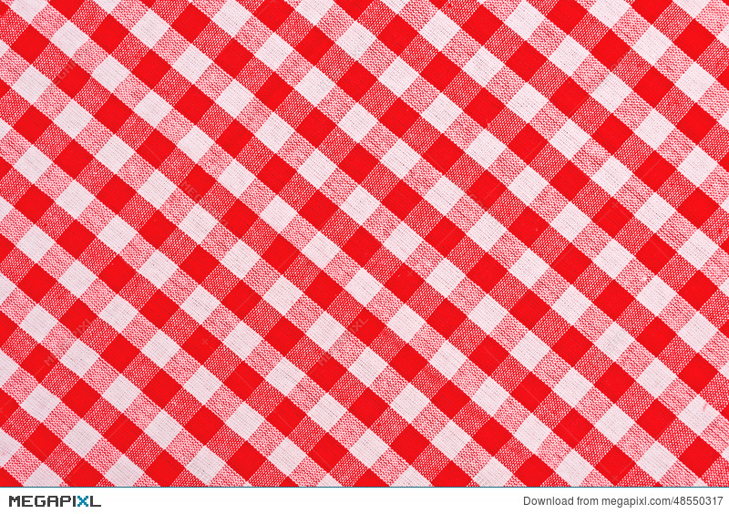 Red And White Checkered Tablecloth Stock Photo 48550317 Megapixl
