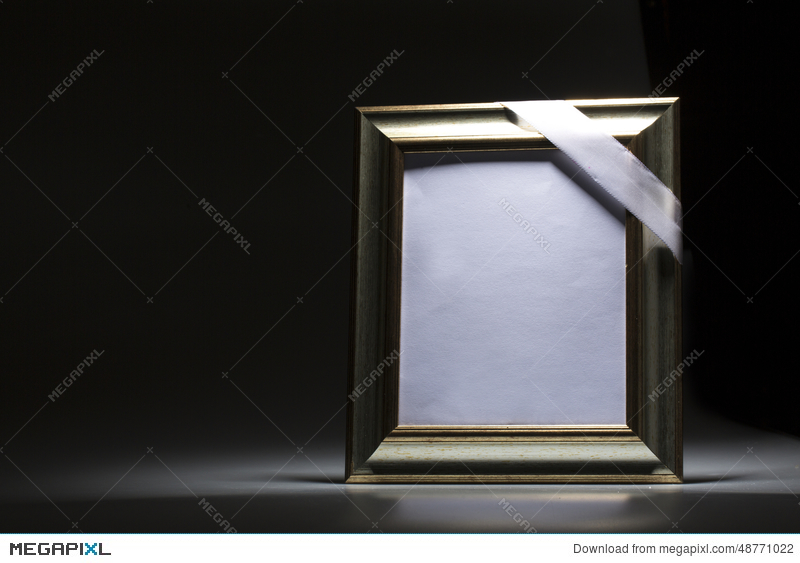 Blank Mourning Frame For Condolence Card Stock Photo 48771022 - Megapixl