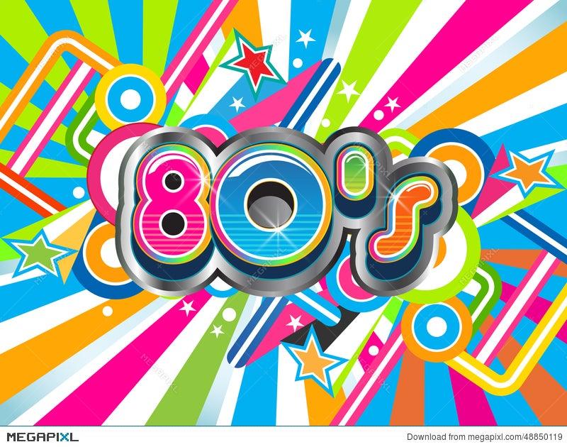 80S Party Background Illustration 48850119 - Megapixl