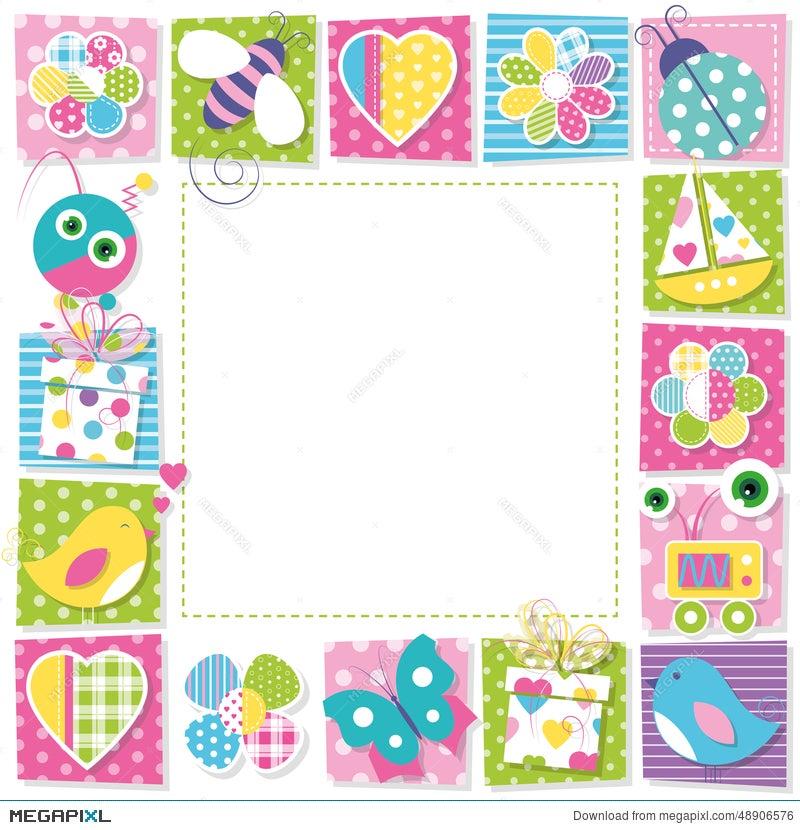 Cute happy birthday border illustration 48906576 megapixl cute happy birthday border stopboris Image collections