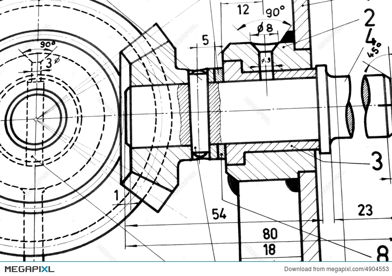 Engineering blueprint stock photo 4904553 megapixl engineering blueprint malvernweather Images