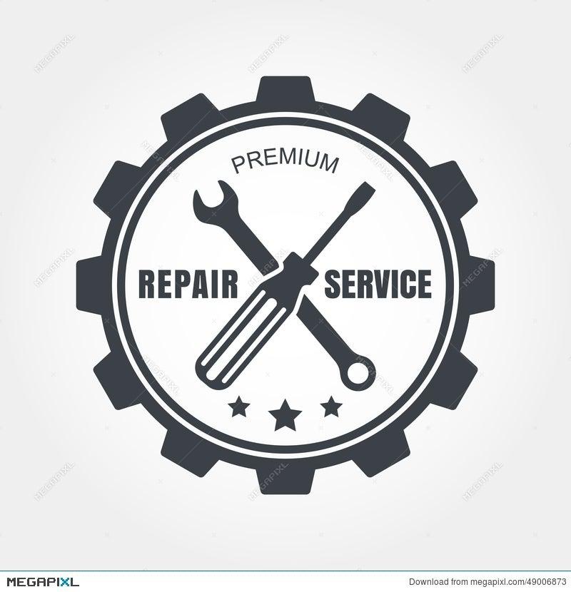 Vintage Style Car Repair Service Label. Vector Logo Design Templ ...