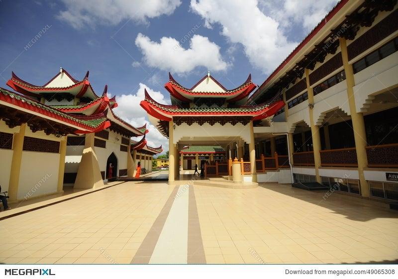 Masjid Jubli Perak Sultan Ismail Petra A K A Masjid Beijing Stock Photo 49065308 Megapixl