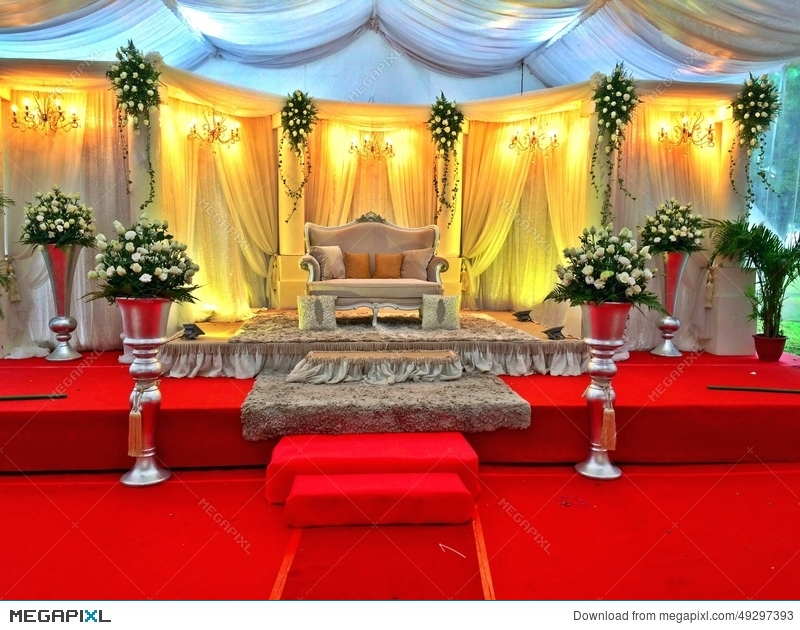 Malay Wedding Stage Decor Singapore Stock Photo 49297393 Megapixl