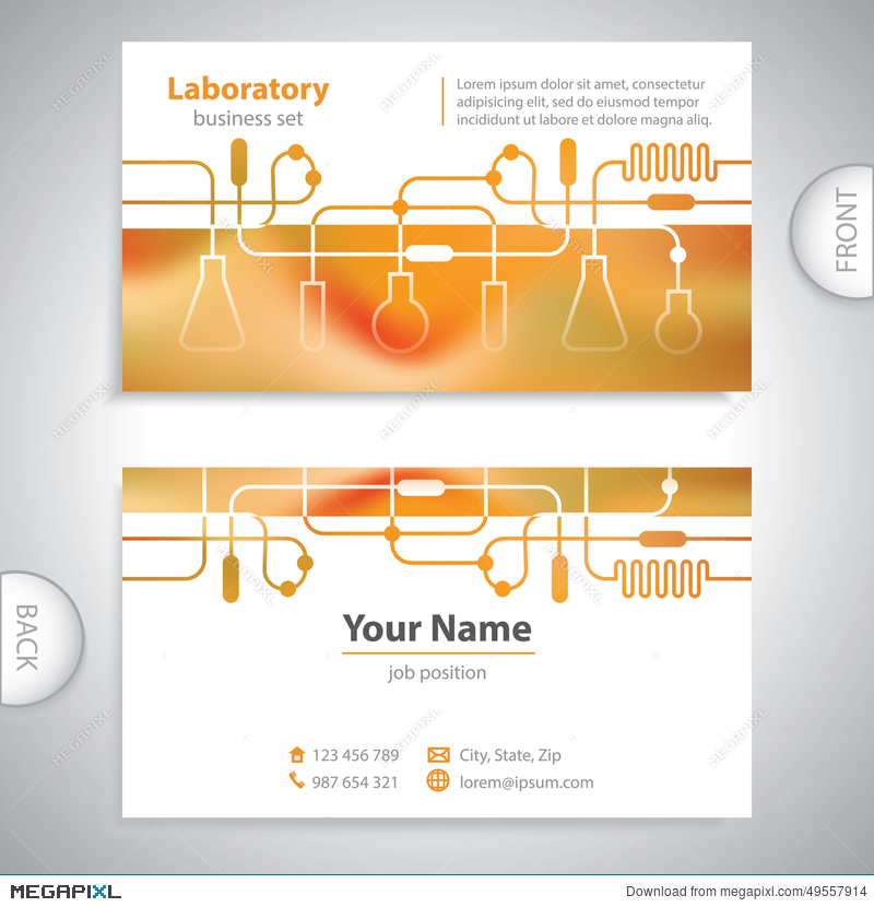 Business Card - Science And Research - Laboratory Background ...