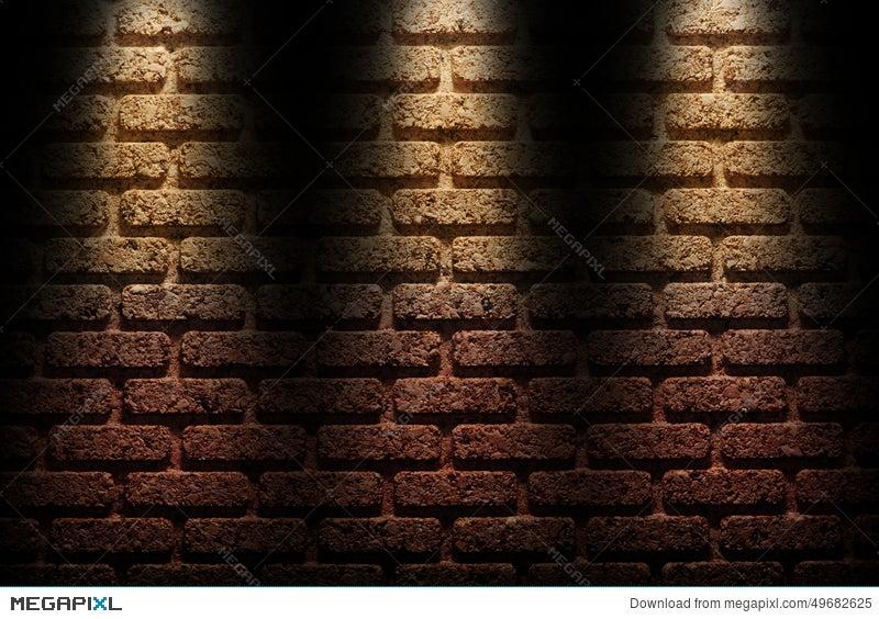 Brick Wall Under The Spotlight