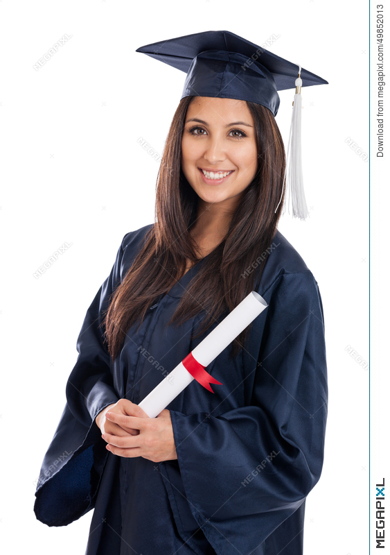 College Graduate In Cap And Gown Stock Photo 49852013 - Megapixl