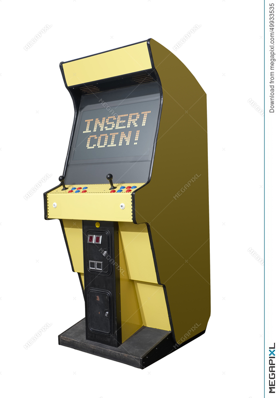 Insert Coin On Arcade Machine Illustration 49933535 - Megapixl