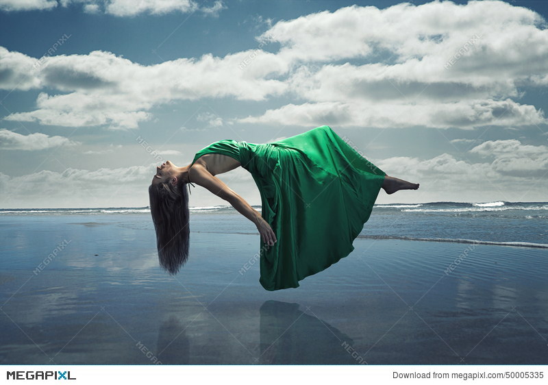 Floating Woman Stock Photo 50005335