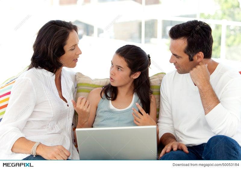 Happy Family With One Child Stock Photo 50053184 - Megapixl