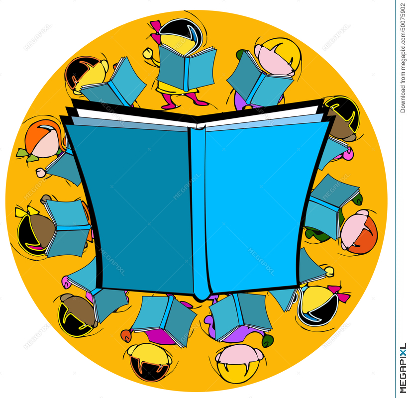 Diversity Book And Children For School Education Cartoon Illustration 50075902 Megapixl