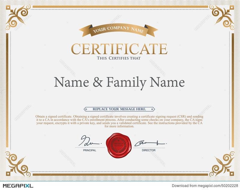 Vector Certificate Template Illustration 50202228 Megapixl