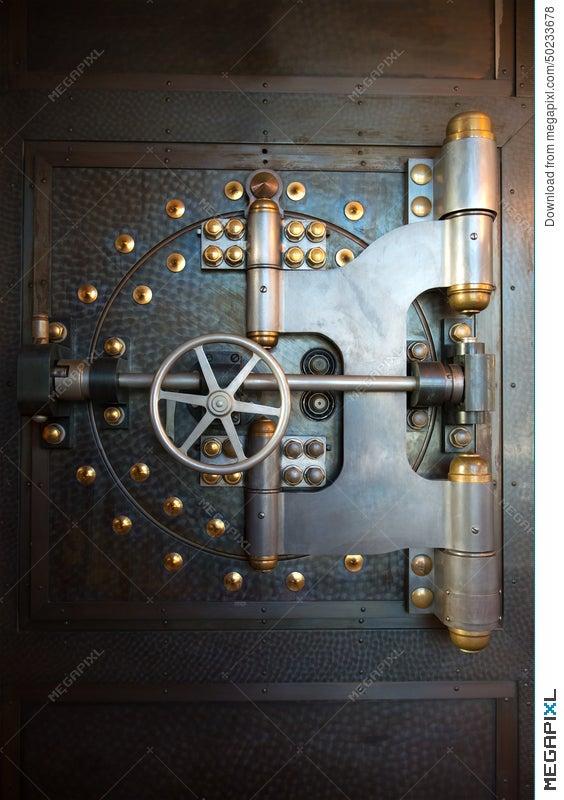Vintage Bank Vault Door Safe - Vintage Bank Vault Door Safe Stock Photo 50233678 - Megapixl
