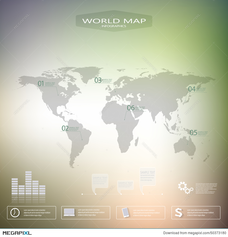 World map infographic template with blurred background can be used world map infographic template with blurred background can be used for workflow layout presentation gumiabroncs Choice Image