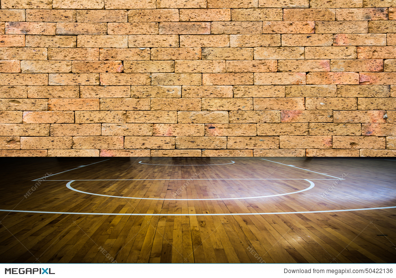 Wooden Floor Basketball Court Stock Photo 50422136 Megapixl