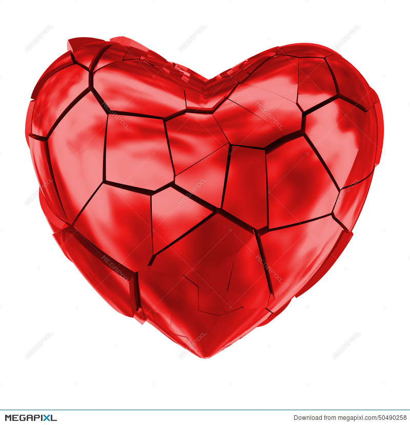 Broken Heart Glossy Red Symbol Stock Photo 50490258 Megapixl