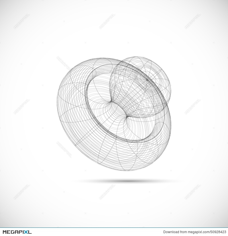 drawing wireframe models baby pacifier template illustration