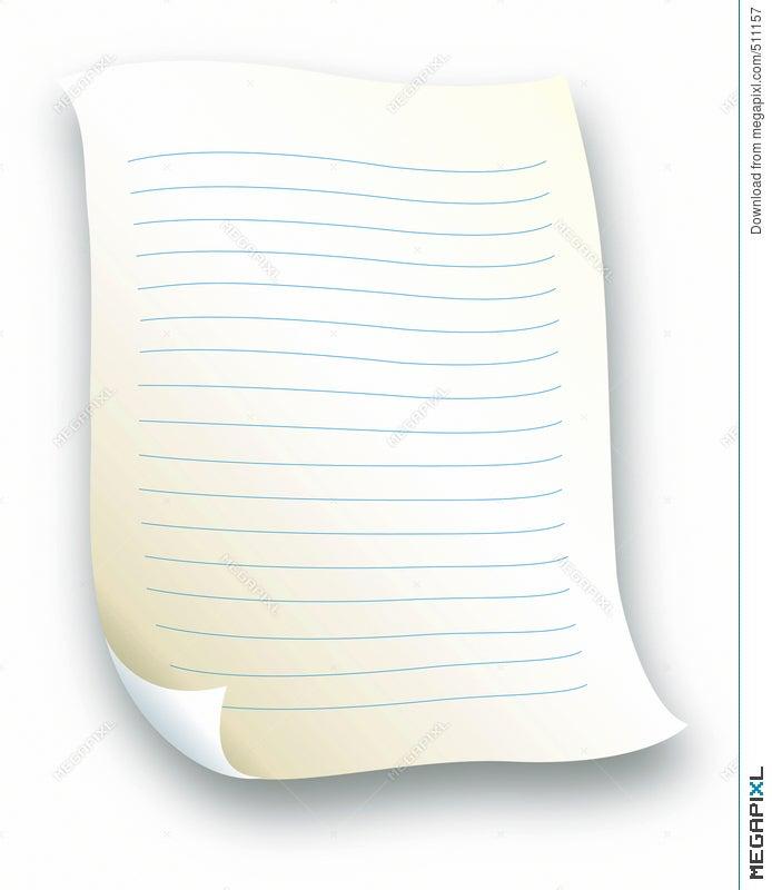 Lined Letter Paper Illustration 511157 Megapixl – Lined Letter Paper