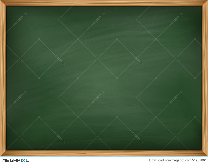 Empty Green Chalkboard With Wooden Frame. Template Illustration ...