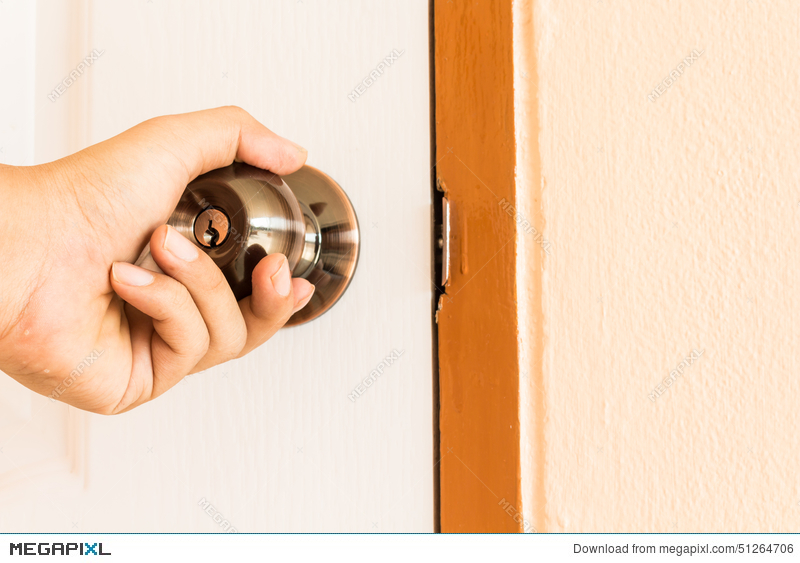 Hand Open Door Knob Stock Photo 51264706 - Megapixl