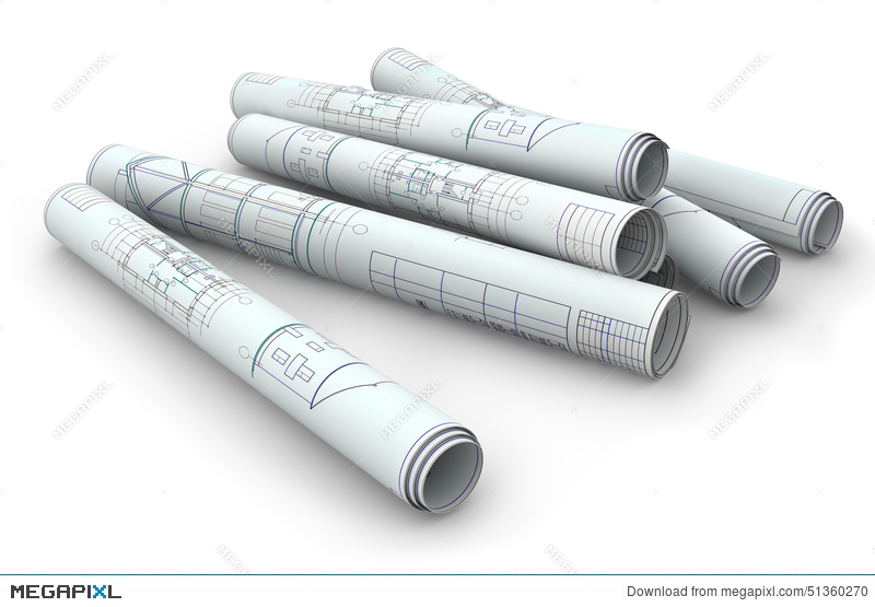 Blank blueprint roll of paper stock photo 51360270 megapixl blank blueprint roll of paper malvernweather Images