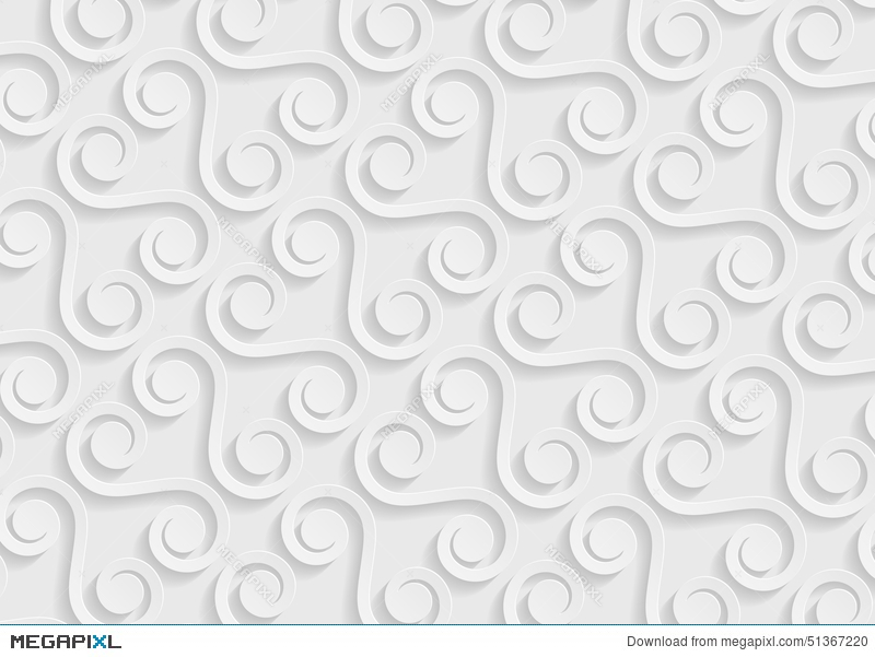 White Paper Geometric Pattern, Abstract Background Template For ...