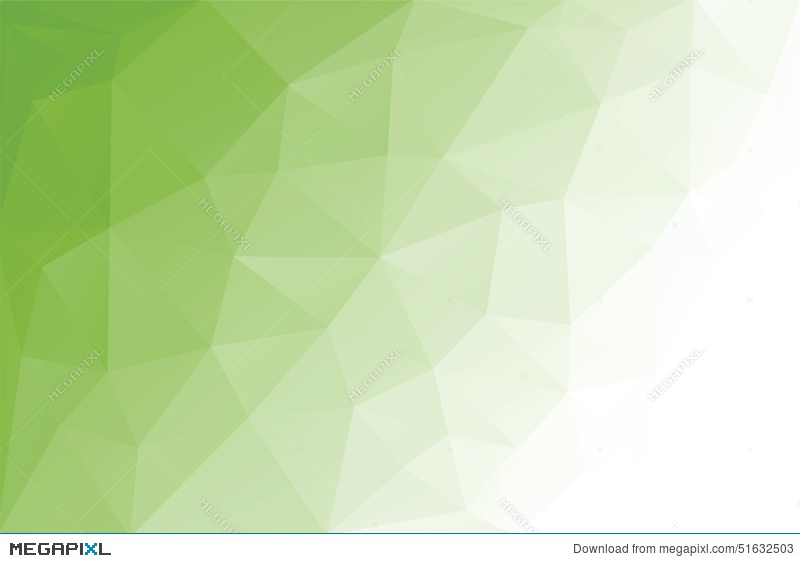 Abstract Triangle Geometrical Light Green Background Vector