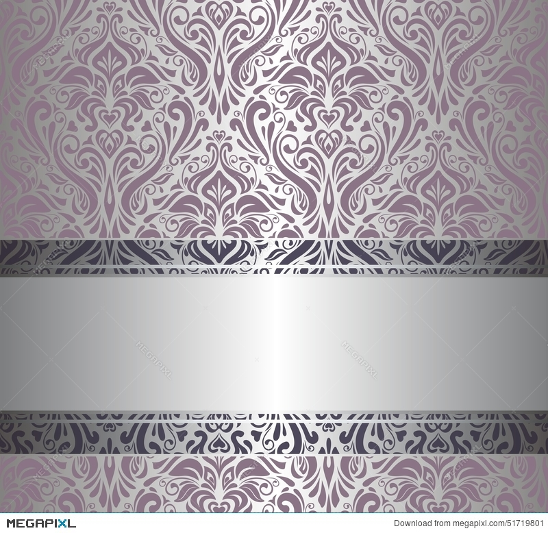 Pink Silver Vintage Wallpaper