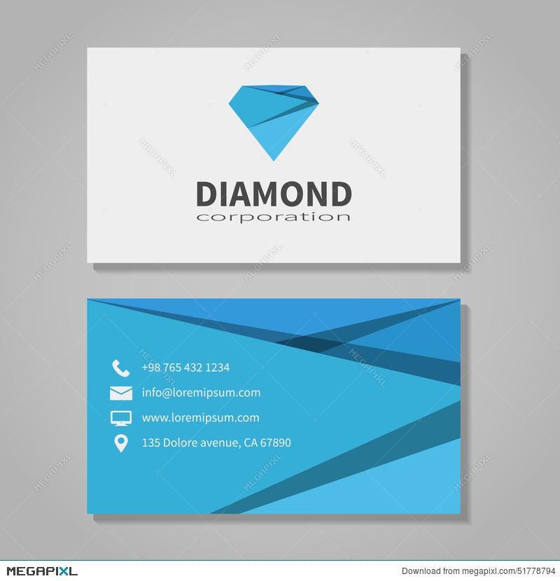 Diamond Corporation Business Card Template Illustration 51778794 ...