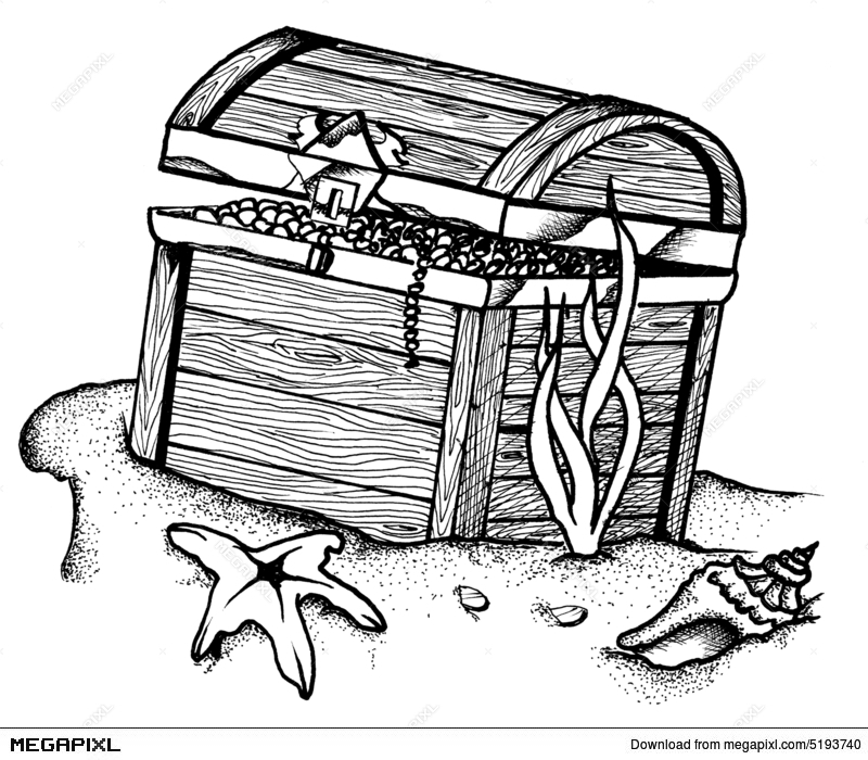 underwater treasure chest illustration 5193740 megapixl